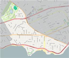 Street map of Punta Gorda