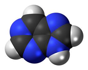 Space-filling molecular model