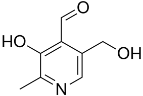 Skeletal formula of pyridoxal