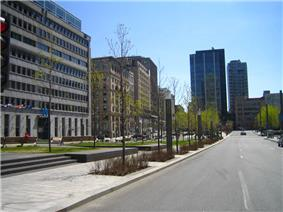 Victoria Square, with Centre CDP Capital's W Hotel on the left.