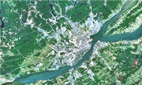 Satellite image of the Communauté métropolitaine de Québec