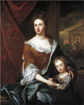 Queen Anne, and her son William Duke of Gloucester
