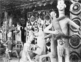 An image of modelled figure in an mbari house