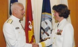 RADM Kathleen L. Martin becomes the first Navy Nurse Corps Deputy Surgeon General of the Navy in 2002.