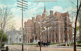 Portrait of McMaster Hall, located in Toronto, Ontario