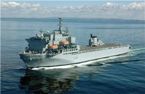 RFA Argus photographed off the coast at Devonport.