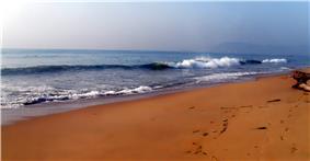 The Rama Krishna Beach after sunrise in 2012