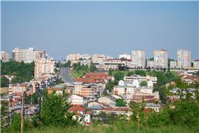 Skyline of Slatina