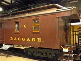 Wooden Baggage Express No. 6