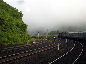 View at Laxmipur Road railway station, Koraput district