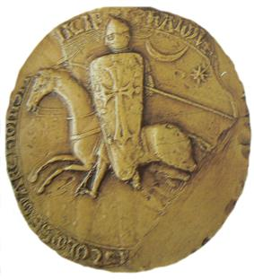 Seal depicting armored man on horseback