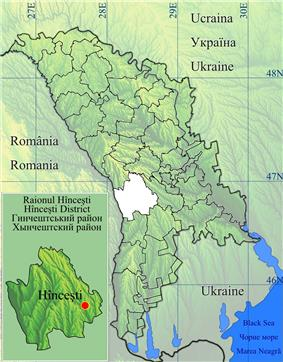 Location of Hîncești