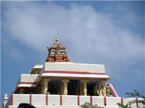 Four pillared porch with tower over the sanctum of the temple.