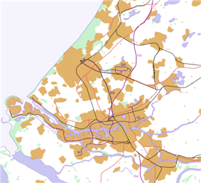 Rotterdam Zuid railway station is located in Randstad