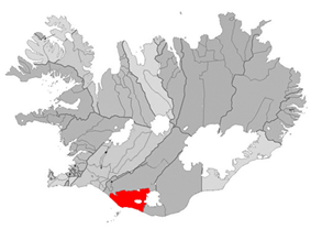 Location of the Municipality of Rangárþing eystra