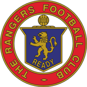 Lion rampant club crest before modernisation 1959–1968. Never appeared on the shirt.