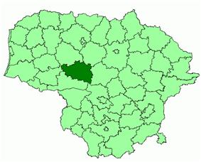 Location of Raseiniai district municipality within Lithuania