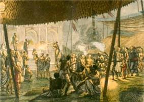 Procession showing Krishna