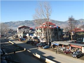 A view of Mong Road, Rawalakot