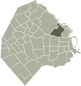 Location of Recoleta within Buenos Aires