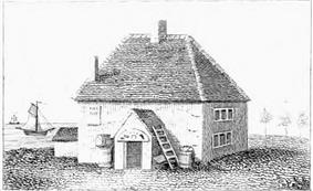 The vicarage used as an inn