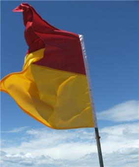 Lifeguard on duty flag