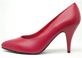 Red high-heel pumps