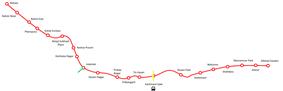 Red Line of Delhi Metro