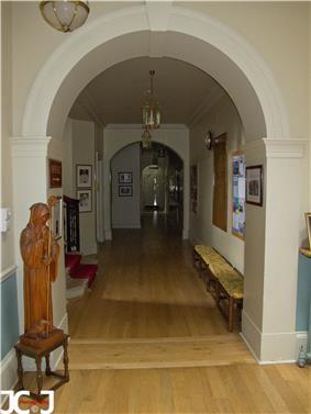 View of the main corridor