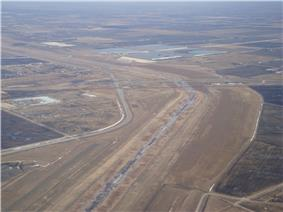 Aerial view of the Red River Floodway