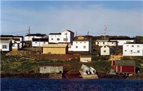 The village of Red Bay, Labrador, in NunatuKavut