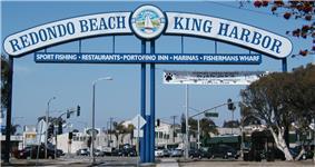 Redondo Beach - King Harbor sign
