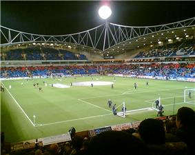 Bolton Wanderer's Reebok Stadium during an evening match in 2006