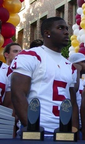 A picture of Reggie Bush at a USC celebration.