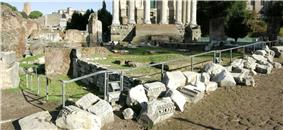 Panorama of the ruins of the Regia