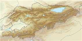 Khan Tengri is located in Kyrgyzstan