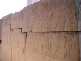 Relief of Sekhemre Wadjkhaw Sobekemsaf at the Temple of Monthu at Medamud.