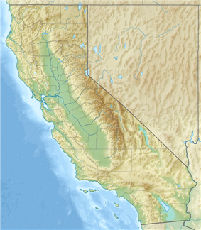 Map showing the location of Huntington State Beach