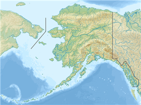Map showing the location of Gates of the Arctic National Park and Preserve