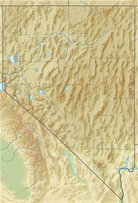 Tikaboo Peak is located in Nevada