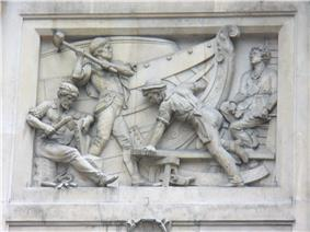 Relief on building in Bishopsgate, London 2.JPG