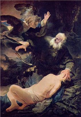 The sacrifice of Isaac by Rembrandt