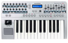 A Novation Remote 25 two-octave MIDI controller