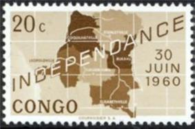 A Congolese stamp commemorating independence