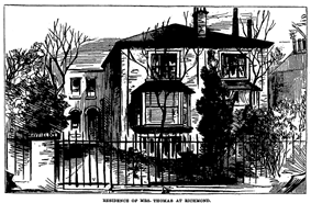Drawing of a suburban semi-detached house with a prominent bay window at the front and a deeply recessed entrance door