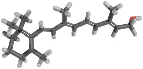 Stick model of retinol