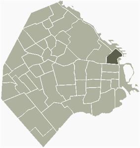 Location of Retiro within Buenos Aires