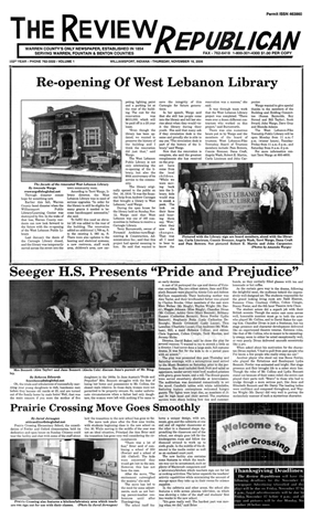 Review Republican front page, 16 November 2006