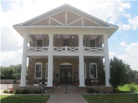 Garza County Historical Museum in Post is a restored sanitarium.