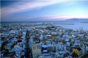 View of Reykjavik from the spire of Hallgrímskirkja